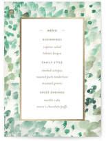 Minted painted wedding Foil-Pressed Menus