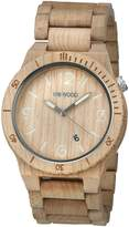 WeWood Men's Alpha ALPHA- Wood Analog Quartz Watch with Dial