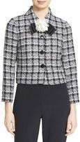 Kate Spade Rosette Bow Tweed Jacket
