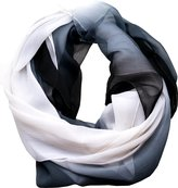 Cejon Womens Scarf Black White Wrap Oblong Scarf
