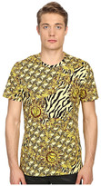 Versace All Over Baroque Tiger Print T-Shirt