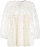 RED Valentino crystal embellished blouse