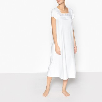 Anne Weyburn Brushed Cotton and Lace Nightdress