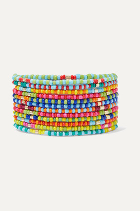 Roxanne Assoulin Patchwork Set Of 12 Enamel And Gold-tone Bracelets