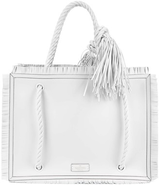 Valentino The Rope white leather tote
