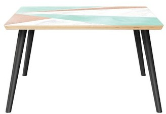 Bungalow Rose Gouveia Coffee Table Table Top Color: Natural, Table Base Color: Black