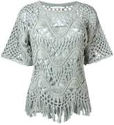 Chloé fringed macrame top