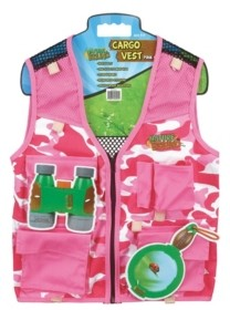 Thin Air Nature Bound Pink Camouflage Explorer Kids Cargo Vest with 4 Pockets
