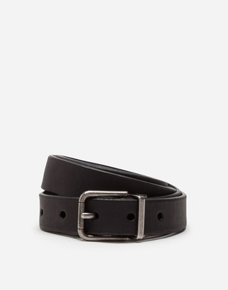 Dolce & Gabbana Split-Grain Leather Belt