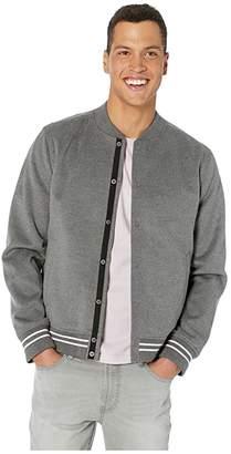Vince Soft Varsity Jacket (Heathered Sliver Grey) Men's Clothing