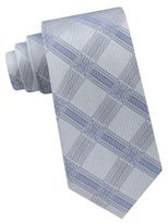 Calvin Klein Optic Plaid Silk Tie