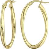 Women's Amour SHB000779 10K Gold Hoop Earrings