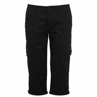 Soul Cal SoulCal . Womens Utility Shorts Zip Up Fly (Black 14)