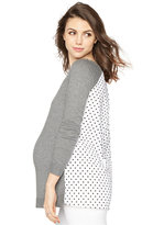 A Pea in the Pod Maternity Paneled Sweater