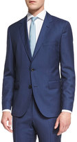 HUGO BOSS Johnstons Lennon Striped Slim-Fit Basic Suit, Blue