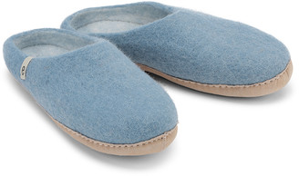 Egos Copenhagen - Natural Felted Fair Traded Slippers in Light Blue - 36 (3) | wool | pale blue - Pale blue