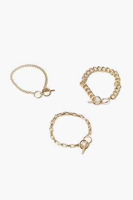 Forever 21 Toggle Chain Bracelet Set