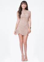 Bebe Crochet Lace Mini Dress