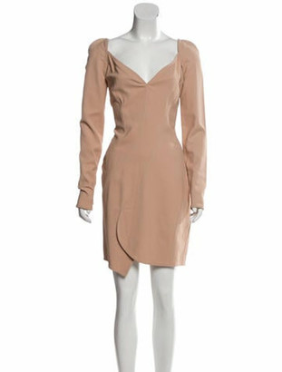 Givenchy Long Sleeve Mini Dress Champagne