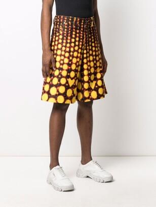 Charles Jeffrey Loverboy Abstract Print Wide-Leg Shorts