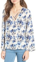 Lush Women's Cross Front Blouse