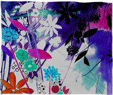 DENY Designs Holly Sharpe Captivate Floral Fleece Throw Blanket, 40-Inch by 30-Inch
