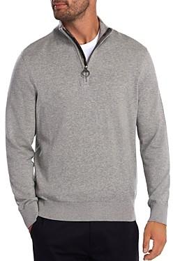 Barbour Tartan Quarter-Zip Sweater