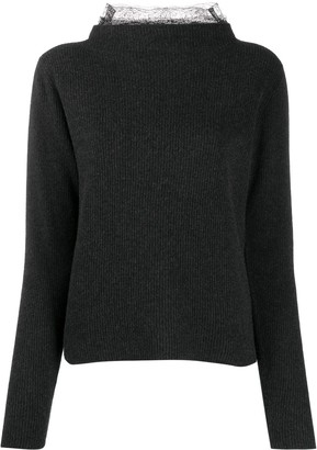 Fabiana Filippi Lace-Collar Jumper