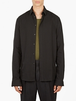 Haider Ackermann Black Cotton Shirt