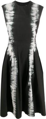 MSGM Distressed-Print Midi Dress
