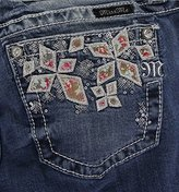 Miss Me Women's Floral Print Cuffed Skinny Jean