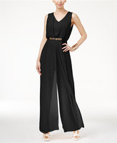 Thalia Sodi Chiffon-Overlay Jumpsuit, Only at Macy's