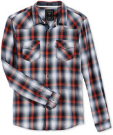 GUESS Men's Long-Sleeve Jordan Plaid Western Shirt