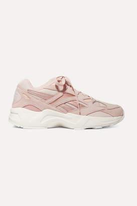 Reebok Aztrek 96 Suede, Leather And Mesh Sneakers - Baby pink