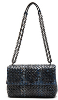 Bottega Veneta Ayers Tweed Foldover Bag