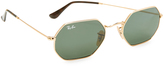 Ray-Ban Octagon Flat Lens Sunglasses