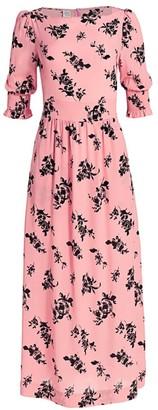 Baum und Pferdgarten Romance & Rituals Aiden Floral-Print Puff-Sleeve Stretch-Silk A-Line Maxi Dress