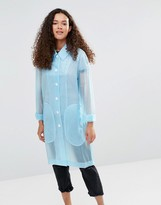 YMC Blue Sheer Rubber Raincoat