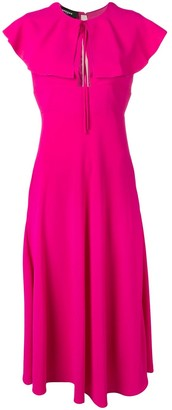 Rochas Flared Collar Dress