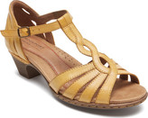 Rockport Women's Cobb Hill Abbott Curvy T-Strap Sandal