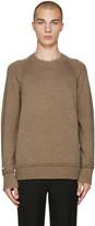 Undercover Tan Wool Zip Sweater