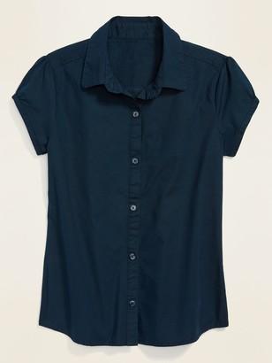 Old Navy Uniform Short-Sleeve Shirt for Girls