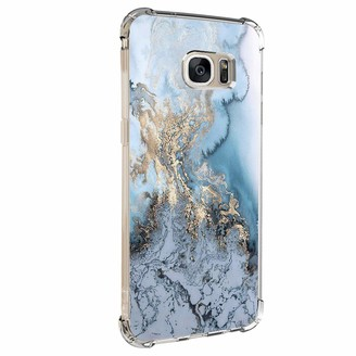 Jeack Case for Samsung Galaxy S6 Edge case crystal case transparent protective case soft silicone mobile phone case slim mobile phone scratch resistant creative pattern clear protective bumper case for Galaxy S6 Edge - Multicolour - Medium