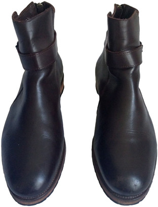 Minelli Brown Leather Boots