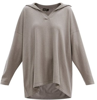eskandar Collared Cashmere And Silk Sweater - Mid Brown