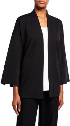 Eileen Fisher Travel Ponte Kimono-Sleeve Jacket