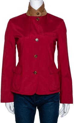 Loro Piana Red Nylon Button Front Jacket S