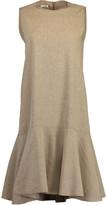 Brunello Cucinelli Linen Flounce Hem Dress