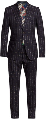 Gucci Retro Thin GG Stripe Wool Suit