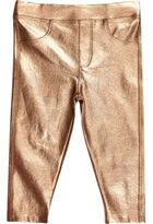 River Island Mini girls metallic bronze leggings